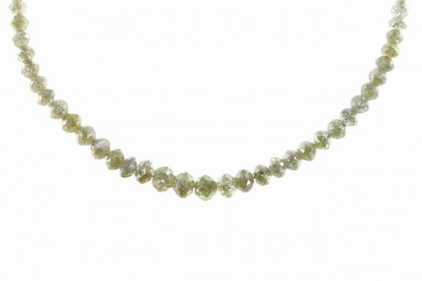 Buttonstrang facettiert 2,8-4,8mm/42cm, Diamant champagnerfarben