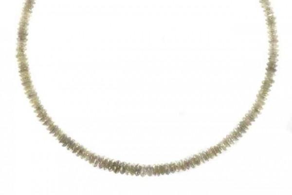 Linsenstrang facettiert 3-3,5mm/40cm, Diamant grau