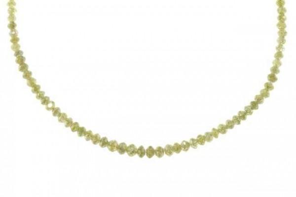 Rondellenstrang facettiert 2-3,2mm/42cm, Diamant champagner