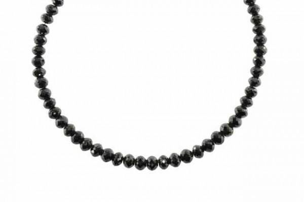 Rondellenstrang facettiert 4,5mm/17cm, Diamant schwarz A