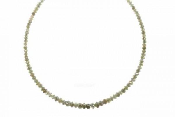 Buttonstrang facettiert 1,8-3,6mm/42cm, Diamant graubeige