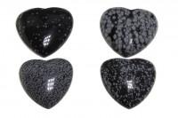 Herz 46x45x17mm, Schneeflocken-Obsidian