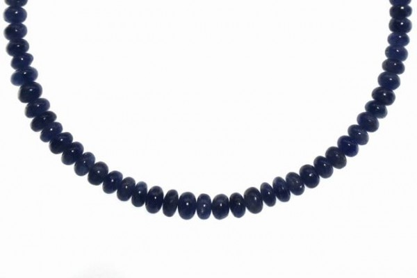 Buttonstrang 3-5mm/40cm, Saphir blau