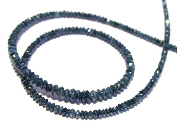 Linsenstrang facettiert 2-3,4mm/40cm, Diamant blau/grün behandelt