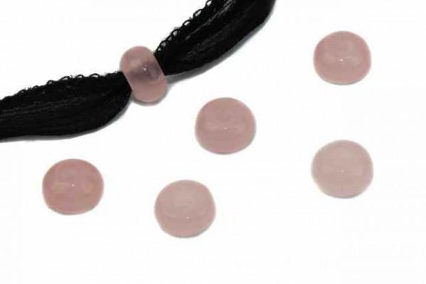 Button mit 3mm Bohrung, 8mm, Rosenquarz