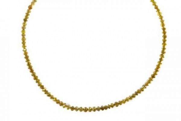 Rondellenstrang facettiert 2-2,6mm/42cm, Diamant gelb