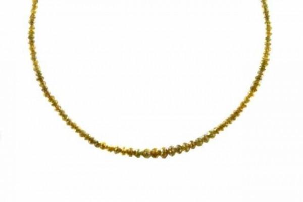 Rondellenstrang facettiert 1,5-3,5mm/39cm, Diamant gelb