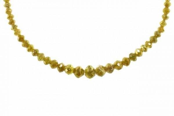 Rondellenstrang facettiert 2-5,8mm/42cm, Diamant gelb