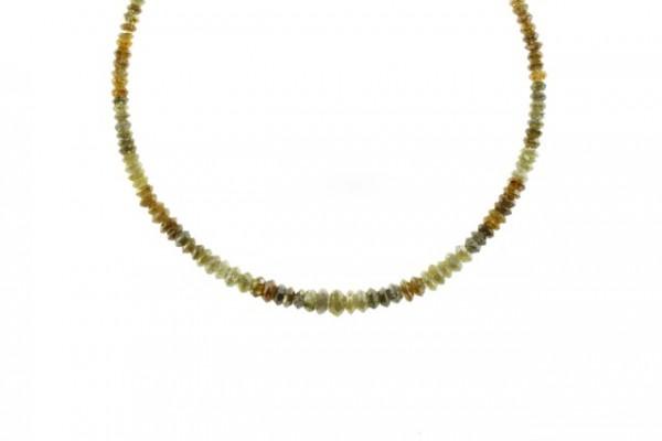 Linsenstrang facettiert 2,1-4,6mm/40cm, Diamant multicolor