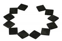 1 Strang Lava 14 mm Quadrat schwarz