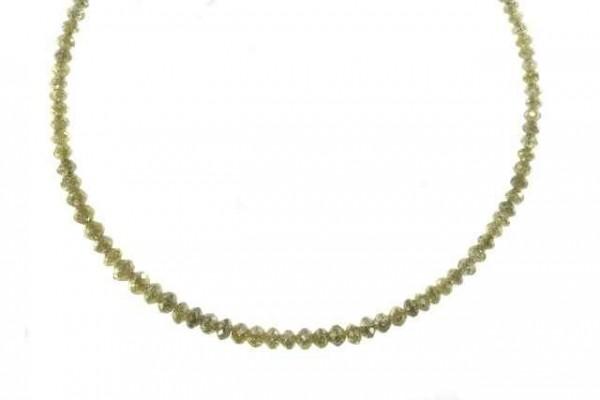 Buttonstrang facettiert 1,6-3,5mm/52cm, Diamant champagnerfarben