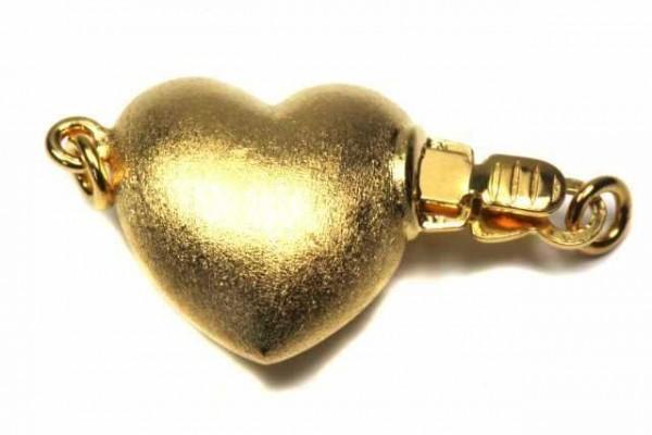 Herz-Schließe 13mm, AGV 925 matt