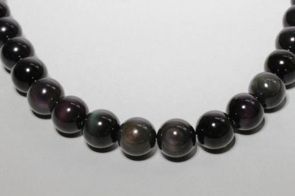 Kugelstrang 16mm/40cm, Regenbogen-Obsidian A