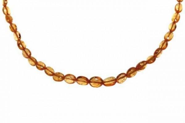 Ovalstrang 2x3-3,5x5mm/40cm, Mandarin-Granat