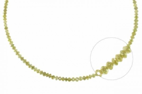 Rondellenstrang facettiert 1,8-2,5mm/42cm, Diamant champagner