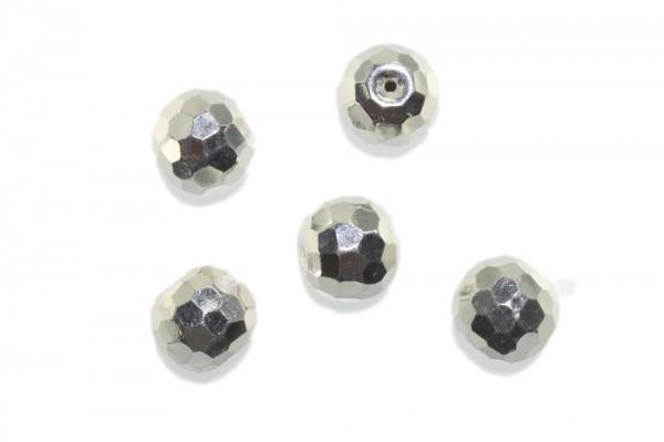 Kugel 16mm facettiert mit 2mm-Loch, AG 925