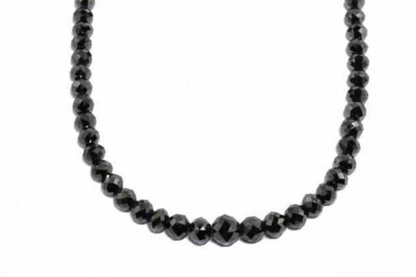 Rondellenstrang facettiert 7-9mm/42cm,schwarzer Diamant A
