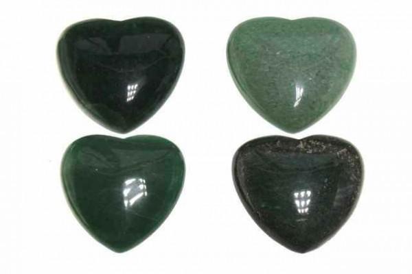 Herz 45x45x17mm, Aventurin grün
