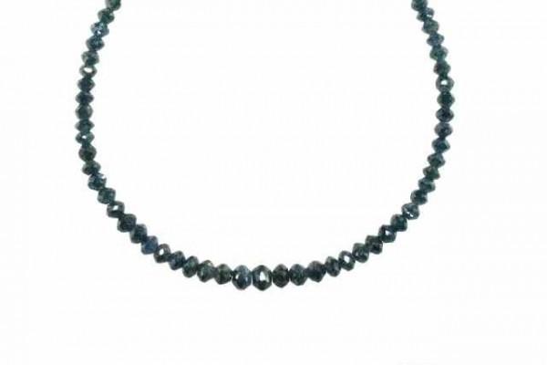 Buttonstrang facettiert 2,9-4,6mm/42cm, Diamant blau/grün behandelt
