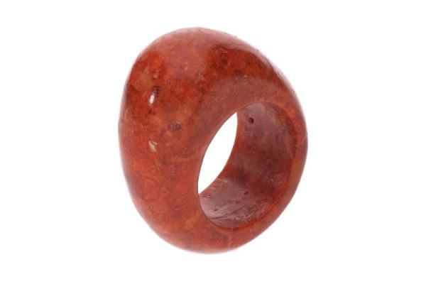 Big Head-Ring Größe 51, 26x31x12mm, Schaumkoralle