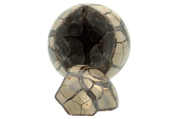 Kugel mit Deckel Ø 125mm aus Septarien