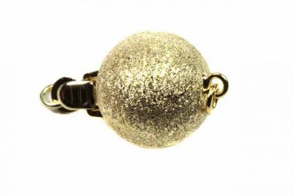 10mm Kugelschließe mit Ring, GG 14k satiniert