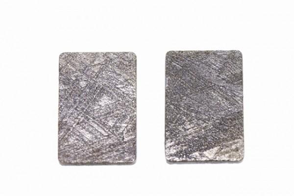 Rechteck 10x15x1,5mm, Eisenmeteorit (Muonionalusta)