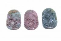 Kürbis-Amulett mit 1mm Bohrung, 35-49mm, Achat