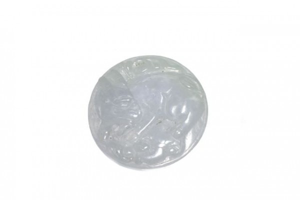 Medaillon Hase 33mm, Burma-Jade lavendel
