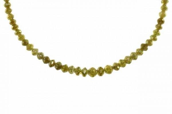 Rondellenstrang facettiert 2,4-4,6mm/41cm, Diamant gelb
