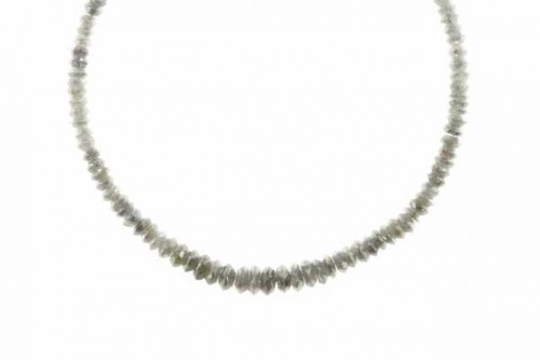 Linsenstrang facettiert 2,8-5,6mm/40cm, Diamant grau