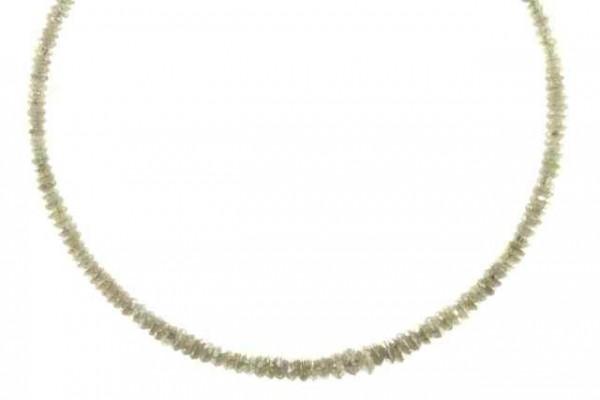 Linsenstrang facettiert 1,8-4,3mm/38cm, Diamant grau