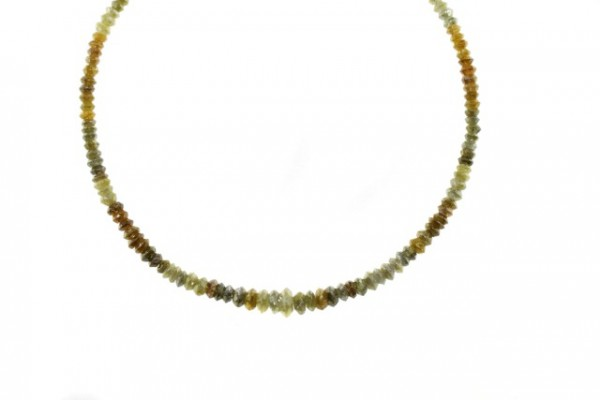 Linsenstrang facettiert 2,1-5,2mm/40cm, Diamant multicolor