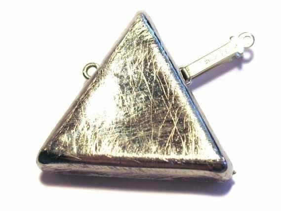 Dreieckschließe 25mm, AG 925 matt