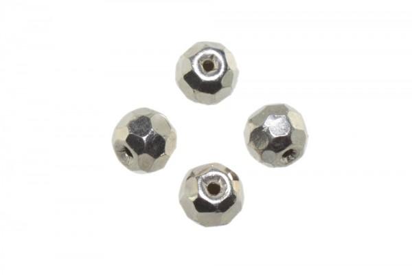 Kugel 7mm facettiert mit 1,5mm-Loch, AG 925