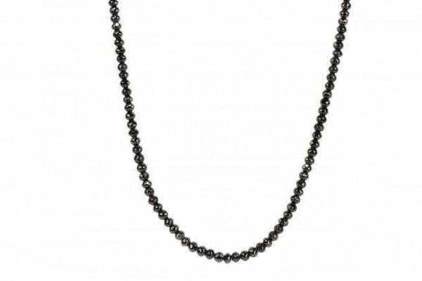 Rondellenstrang facettiert 5,8-6,3mm/42cm, schwarzer Diamant A