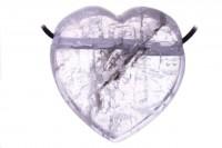 Herz mit 2,5mm Querbohrung, 30-38x33-37mm, Kunzit AA