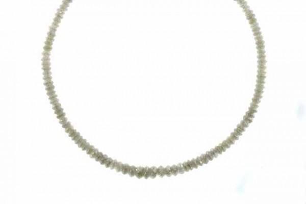 Linsenstrang facettiert 2,8-4,7mm/42cm, Diamant grau