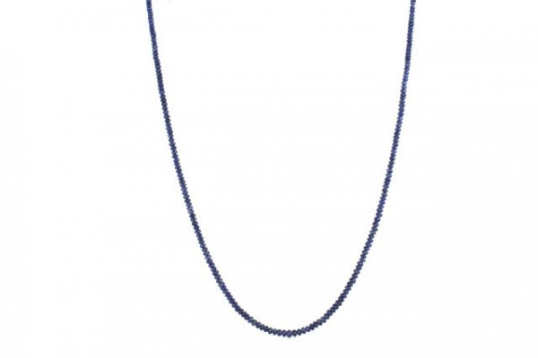 Buttonstrang 2,5-3,5mm/45cm, Saphir A blau (Burma)