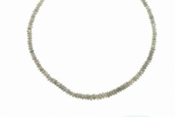 Linsenstrang facettiert 2,2-3,8mm/37cm, Diamant grau