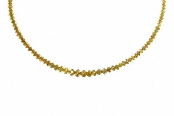 Rondellenstrang facettiert 1,5-3,3mm/38cm, Diamant gelb