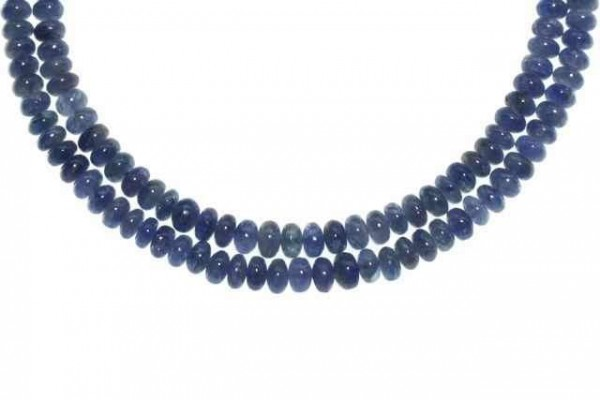 Buttonstrang 3,5-4,8mm/43cm, Saphir blau