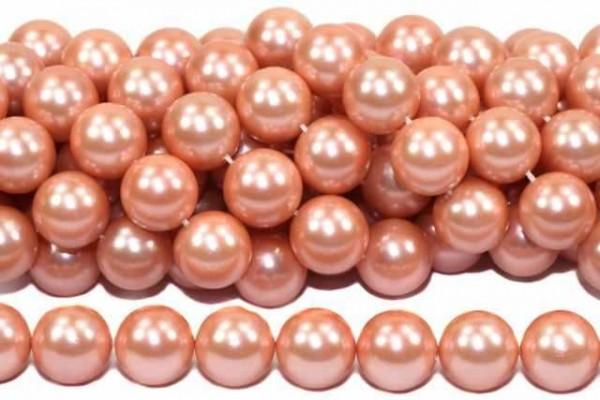 Kugelstrang 14mm/40cm, Shellbased Perle rosé
