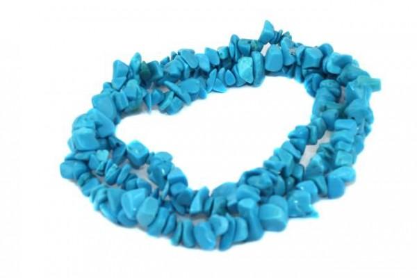 Chips-Strang 8-10mm/90cm, Magnesit blau gefärbt