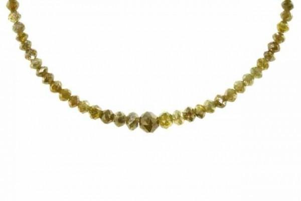 Rondellenstrang facettiert 2,2-5,5mm/42,5cm, Diamant gelb