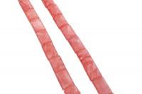 Rechteckstrang gewölbt 15x24mm/40cm, Cherryquarz behandelt SONDERPOSTEN