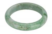 Armreif 13,5mm/58mm Innendurchmesser halbrund, Jade