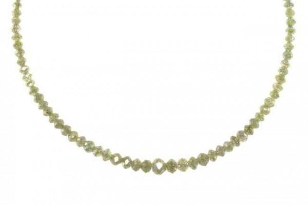 Rondellenstrang facettiert 1,8-4,5mm/42,5cm, Diamant champagner